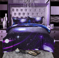 3D Galaxy Printing Comforter With Pillow Case Bedspread Set Quilt Blanket Bedding Queen Size Coverlet Set 200x230cm
