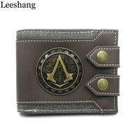 Leeshang Altair Juego Assassins Creed Wallet Men Wallet Small Vintage Wallet Brand High Quality Designer Short