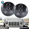 7 Round Led Headlight For Jeep Wrangler JK Accessories H4 7inch 45W LED Projector Headlights For