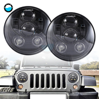 2 Pcs 7 Round Led Headlight For Jeep Wrangler JK H4 7 Inch 45W LED Projector