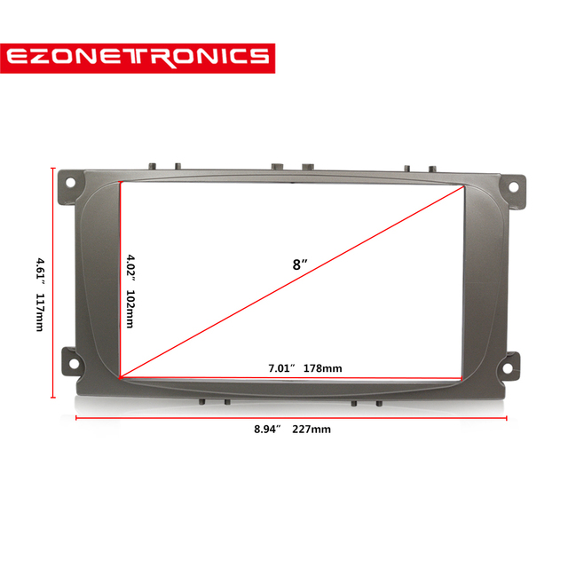 2 din car DVD radio frame For Ford Focus II C Max S Max Fusion Stereo_640x640 ford focus frame diagram wiring diagram online