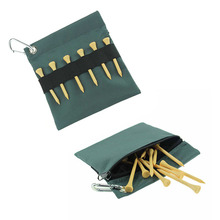 GOLF tees bag Natural wooden golf tees golf wooden tees 75pcs with a Nylon bag holder and a case