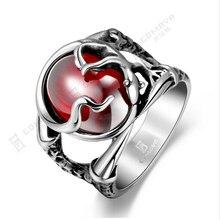 hot deal buy engagement ring mayan europe 316 steel inlaid ruby corundum men's rings  fine jewelry diamond jewelry vintage wedding rings r189