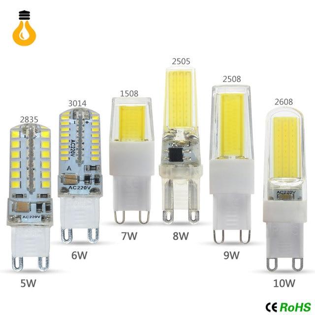 Aliexpress.com : Buy 1PCS 5W 7W 9W 12W G9 Led Lamp AC 220V SMD 2835 ...