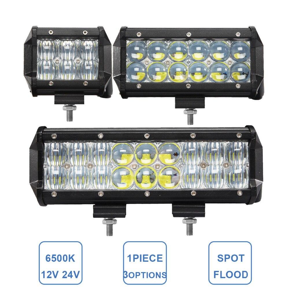30 W 60 W 90 W Offroad LED Barra de luz de trabajo 12 V 24 V coche ATV remolque Camper camión 4x4 4WD Auto caravana 4 6 9 pulgadas faro antiniebla