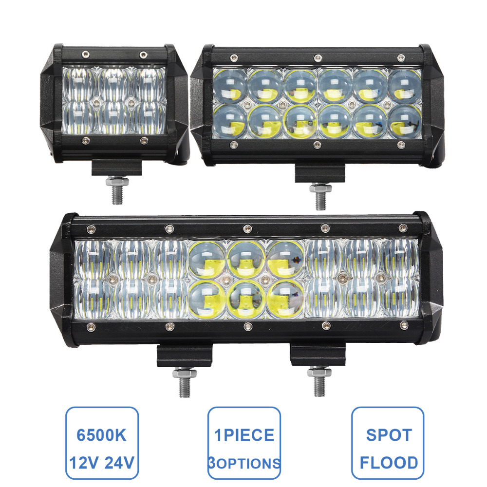 30W 60W 90W Offroad LED Work Light Bar 12V 24V Car ATV Trailer Camper Truck 4x4 4WD Auto Caravan 4 6 9 Inch Fog Lamp Headlight