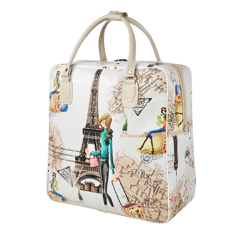 W Дамы Камера Воданепранікальная сумка вялікая ёмістасць Жанчыны друку Дарожная сумка Паўсядзённы Дарожныя сумкі