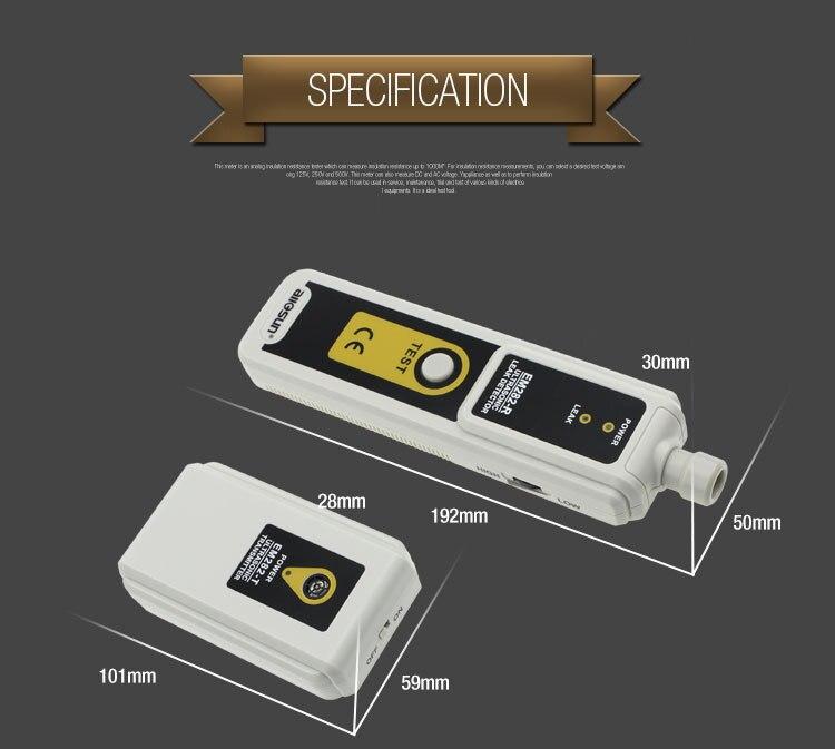 ALL SUN EM282 Ultrasonic Leak Detector 40KHz Transmitter Relative Humidity<80% Gas Leak Detector