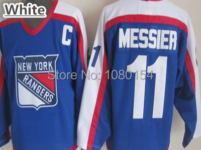 f2c3c0c5f 1996-97 New York Rangers Mark Messier Throwback Jersey 11 Blue Stitched ...