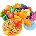 24 unids niños play house toy cortar frutas verduras cocina de pizza de plástico clásico de baby kids toys pretend educativo toys playset