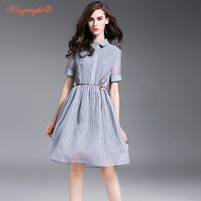 dcb28b60c As Mulheres Se Vestem de verão Estilo Europeu Novo Longo Dia Organza Vestido  de Vestidos De
