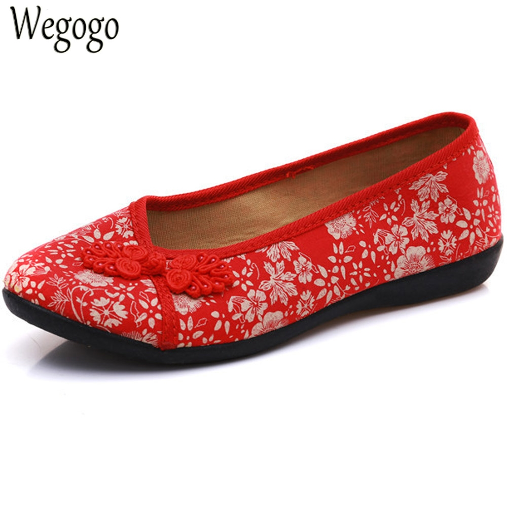 New Arrive Women Shoes Flats Old Beijing National Single Shoes Chinese Bride Embroidery Ballet Drive Shoes For Cheongsam women flats summer new old beijing embroidery shoes chinese national embroidered canvas soft women s singles dance ballet shoes