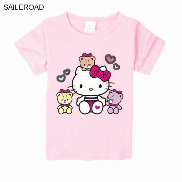 Заказать футболку с надписью hello kitty