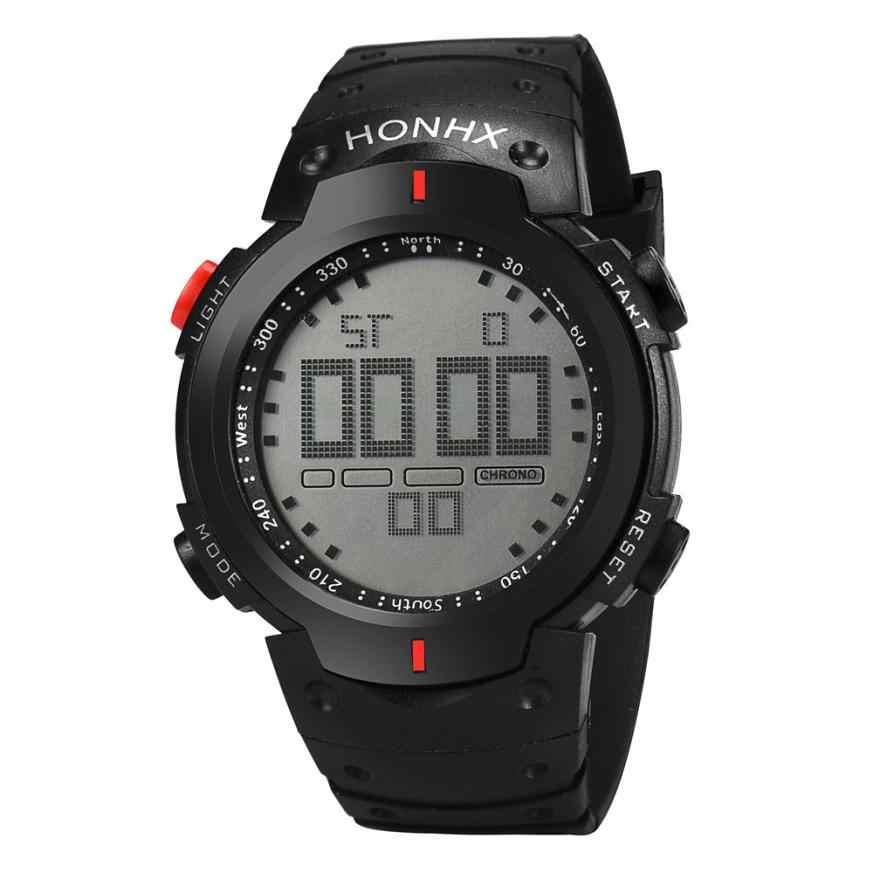 מכירה לוהטת גברים שעון יד ספורט שעונים דיגיטלי וקוורץ שעון בני הכרונוגרף צבאי LED שעונים relogio inteligente