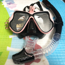 Snorkeling Mask Snorkel Tube Set Diving Mask Anti-Fog Swimming Diving Goggles Snorkel Tube For GoPro Underwater Sports Camera
