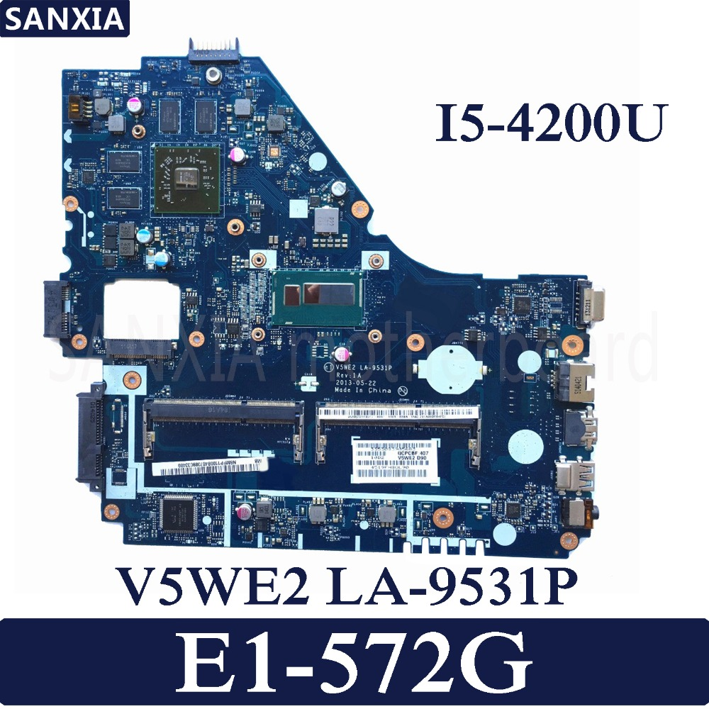 KEFU LA 9531P Laptop motherboard for font b Acer b font E1 572G original mainboard I5