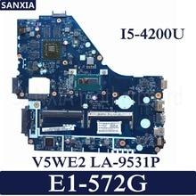 KEFU LA-9531P Laptop motherboard for Acer E1-572G original mainboard I5-4200U with video card