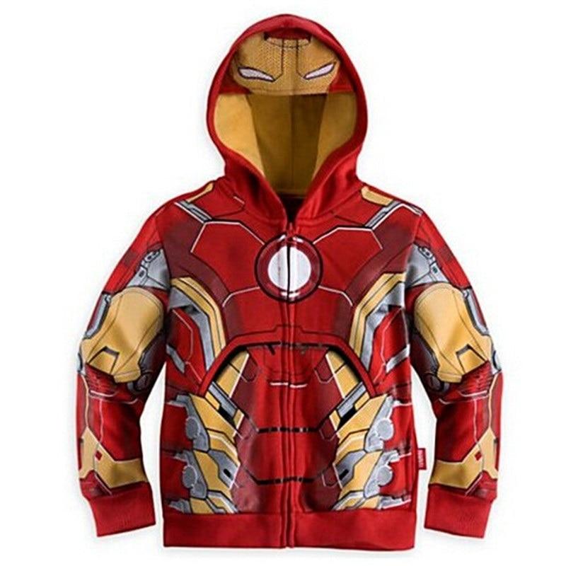 Les Avengers, Iron Man enfants Hoodies sweat garçons filles printemps automne manteau enfants à manches longues veste décontractée bébé vêtements