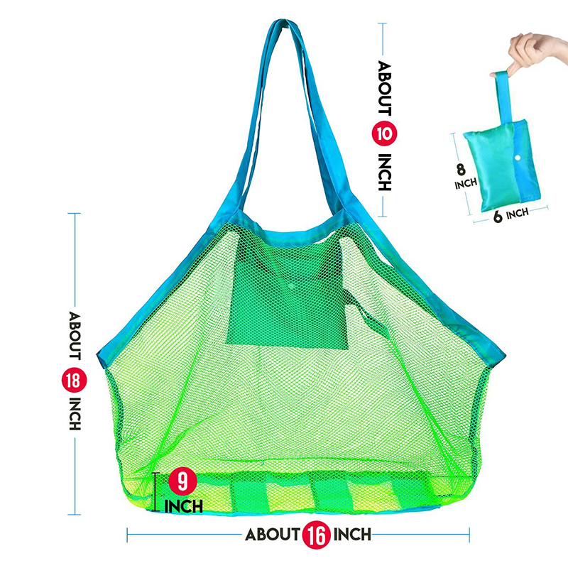 Durable Holding Toys Balls Beach Mesh Tote Bag (17)