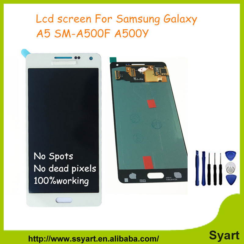 A5 Black LCD Complete Replacement For Samsung Galaxy A5 2015 A500F A500M A5000 LCD Screen Display Touch Digitizer Assembly DHL