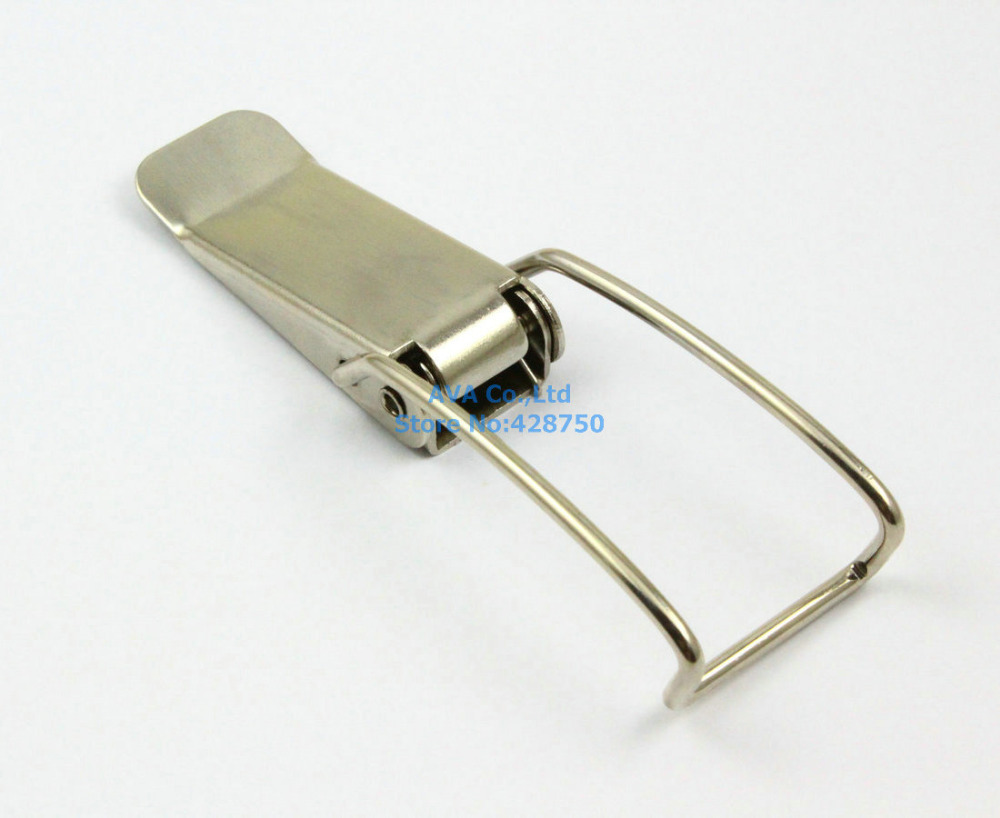 4 Pieces 117mm Box Chest Case Spring Load Stainless Steel Draw Toggle Latch
