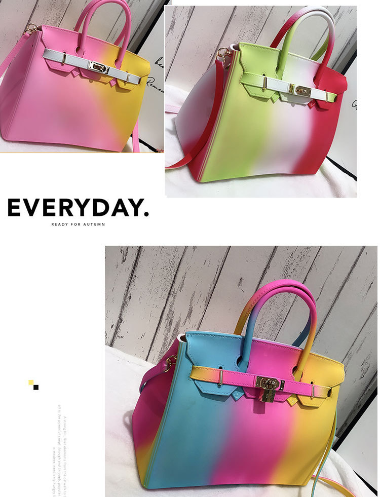 Buy cheap Rainbow Bag High Quality Colorful Handbags