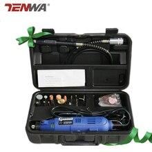 Tenwa 40PCS 220V 180W Power Tools Professional Dremel Mini Drill Electric Drill Flexible Shaft Drill Bits