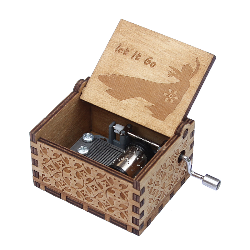 Island Christmas Theme.Us 4 36 11 Off Wooden Music Box Jack From Pirates Davy Jones Game Of Thrones The Godfather Island Princess Christmas Theme Gift In Music Boxes From