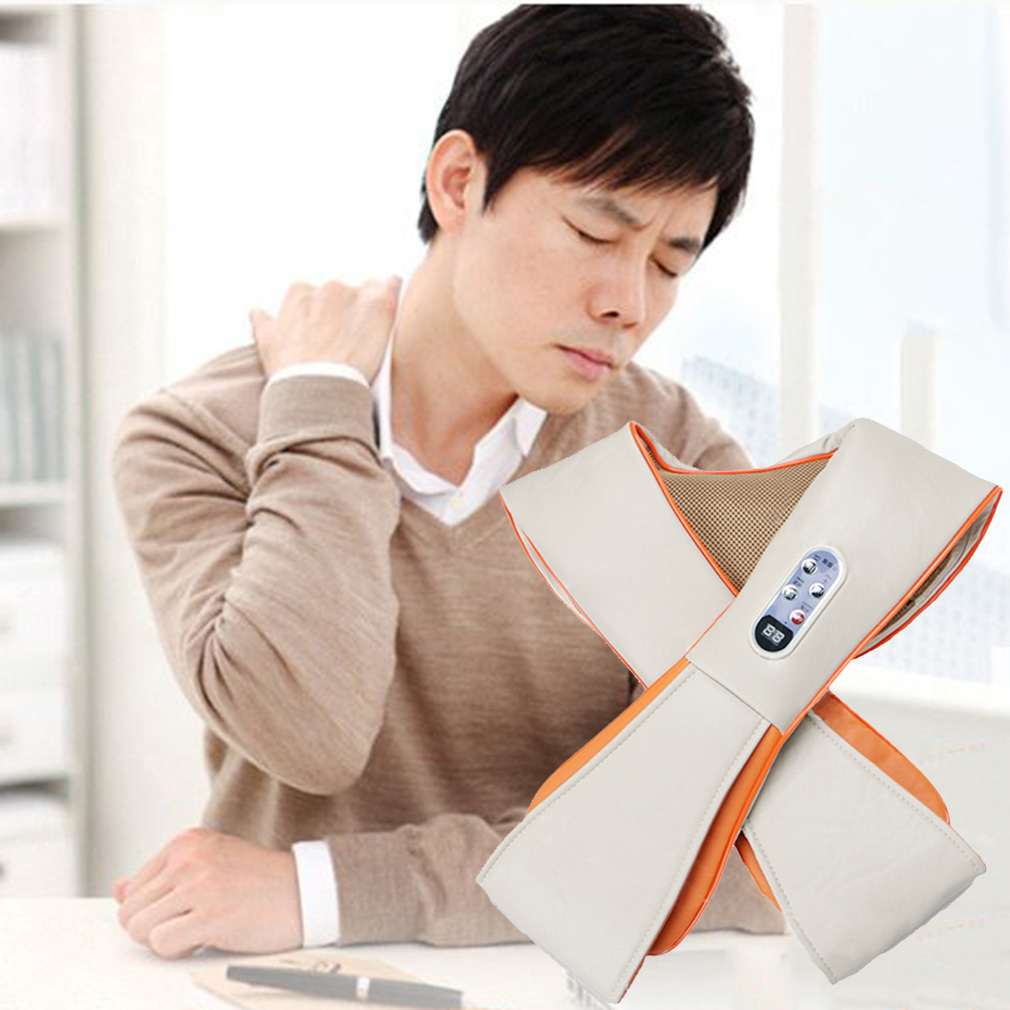 ФОТО Multifunction Health Care U Shape Electrical Tapping Massager Neck Shoulder Waist Back Neck Massager Household Hot Selling