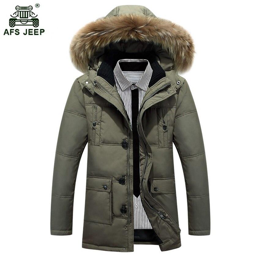 New Fashion Men Autumn Winter Outwear Warm   Down     Coat   Casual Male Casual Winter White Duck   Down   Jackets 210wy