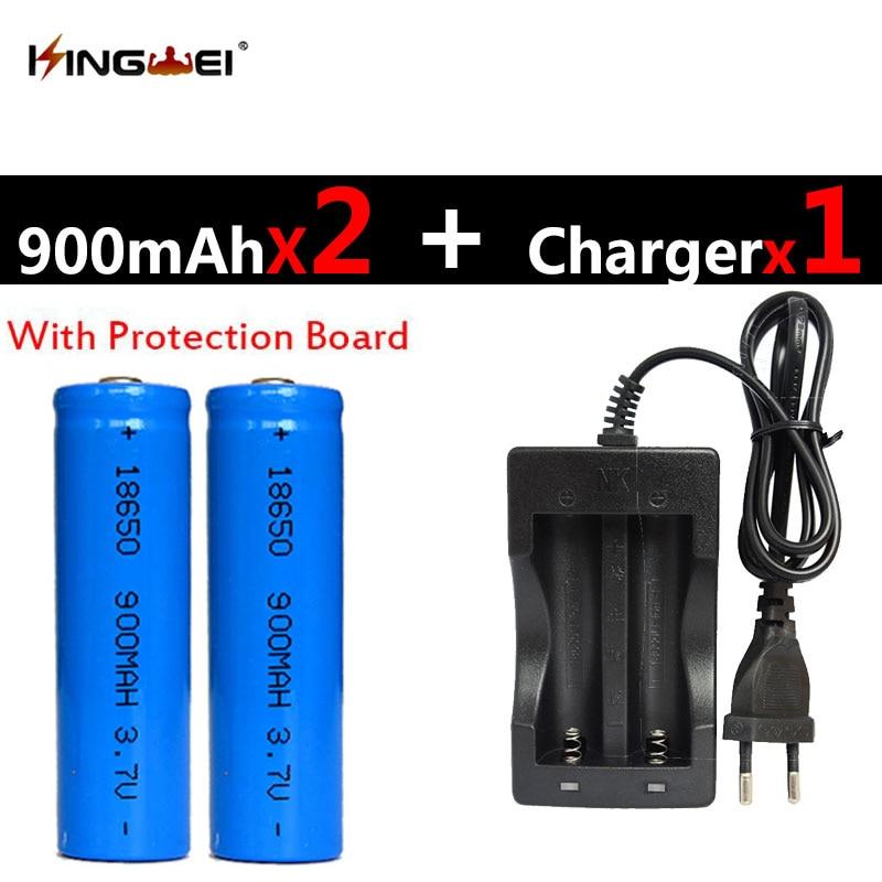 2 x  KingWei 2Pcs//lot 18650 3.7v Rechargeable li-ion Battery 1200mah Li-ion