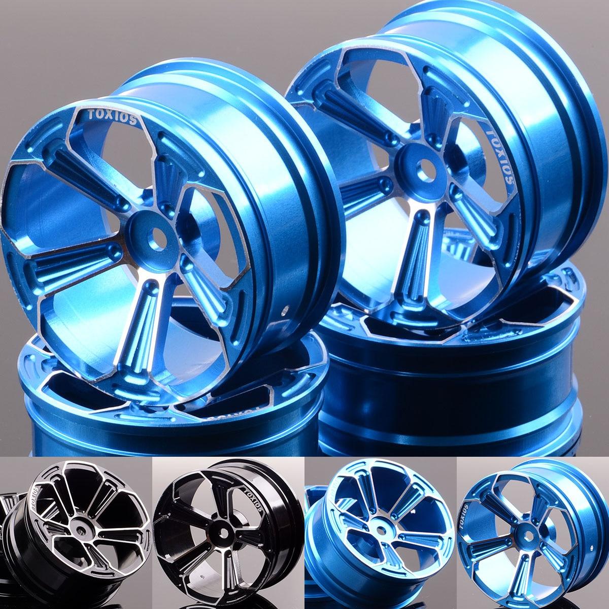4P Aluminum 5 Spoke Wheels/Rims 1053 For RC 1/10 On-Road Drift Sakura HSP Tamiya