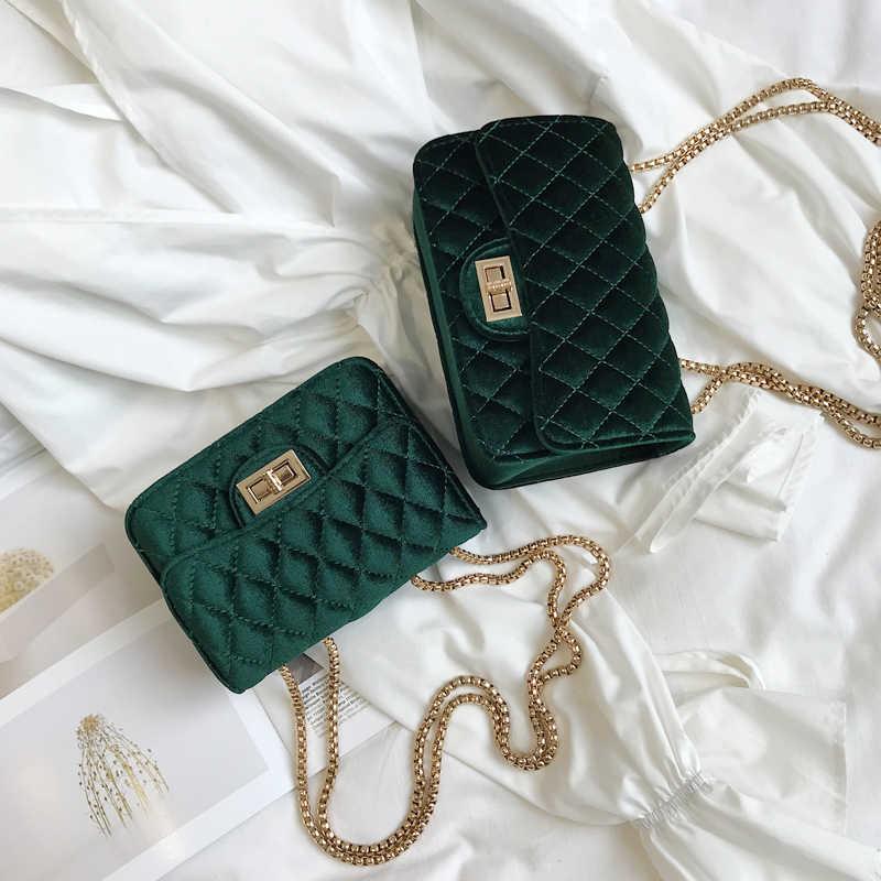 ff97ca6b6b33 ... Женская классическая сумка-мессенджер с ромбовидной решеткой, велюровая  Сумочка, замшевая стеганая сумка на ...