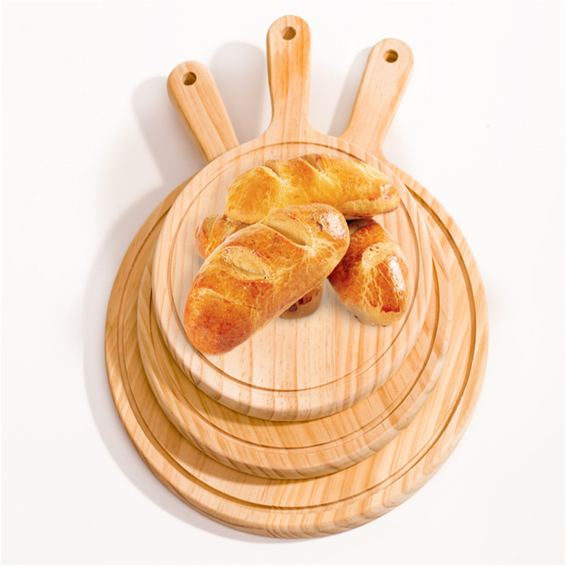 Round Kitchen Cutting Board with Hand