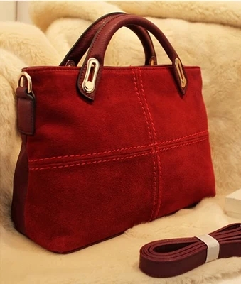 Free shipping New 2017 Handbags Vintage Classic Leather Women Handbag Red Totes