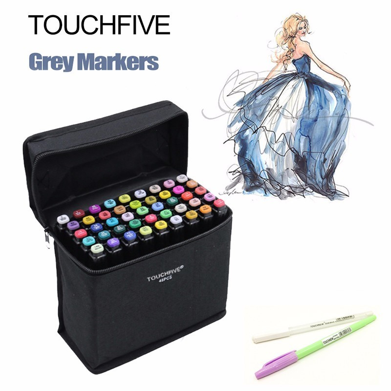 Art Markers Generation Oily Alcoholic Double Headed Professional Drawing Design 30 60 80 pcs/set Artist Sketch Color Markers Set manga design 24 color three generations oily alcoholic paint mark pen permanent marker sketch double headed copic markers