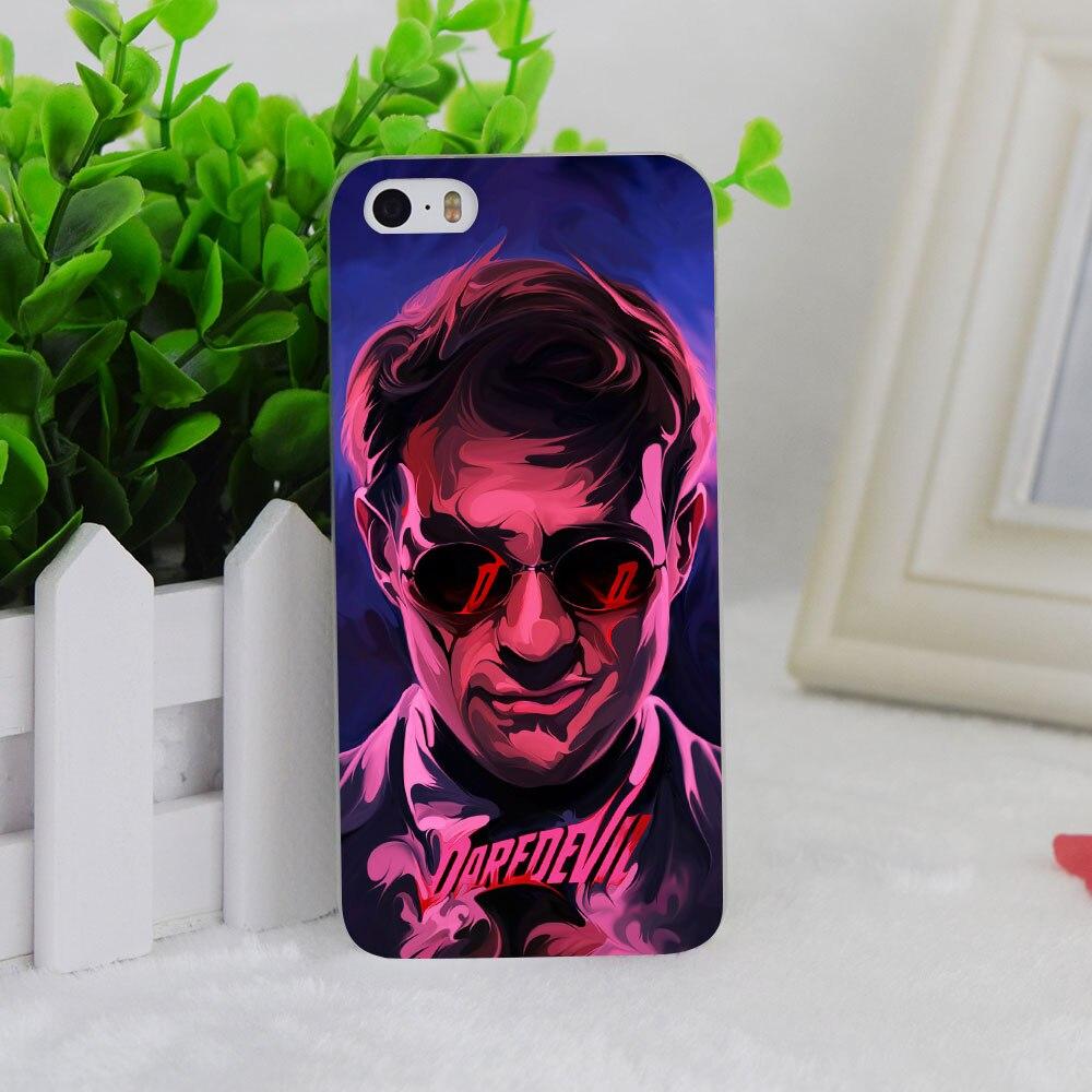 A2520 New Daredevil Superhero Transparent Hard Thin Case Cover For Apple iPhone 4 4S 5 5S SE 5C 6 6S 6Plus 6s Plus