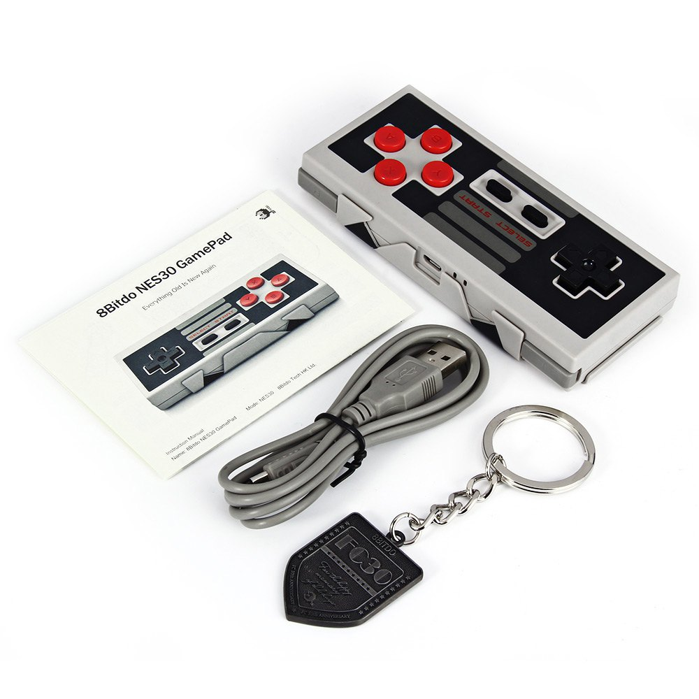Upgradable Firmware Wireless Bluetooth Controller 8Bitdo NES30 Dual Classic Joystick for iOS Android Gamepad PC Mac Linux-in Gamepads from Consumer Electronics