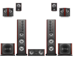 Active Subwoofer Home Theater Surround 8 Swans B-SUB Front Bipolar/dipole Middle-2.8b-C