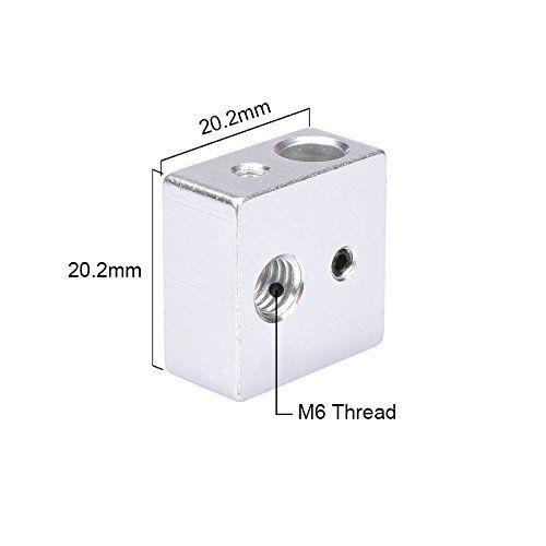 MK8 Heating Block 20x20x10mm MK8 Extruder Heat Block for CTC Makerbot 3D Printer Part