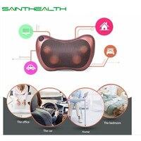 Electric Kneading Neck Shoulder Back Cervical Lumbar Leg Massager Infrared Heating Shiatsu Massage Pillow Car Chair