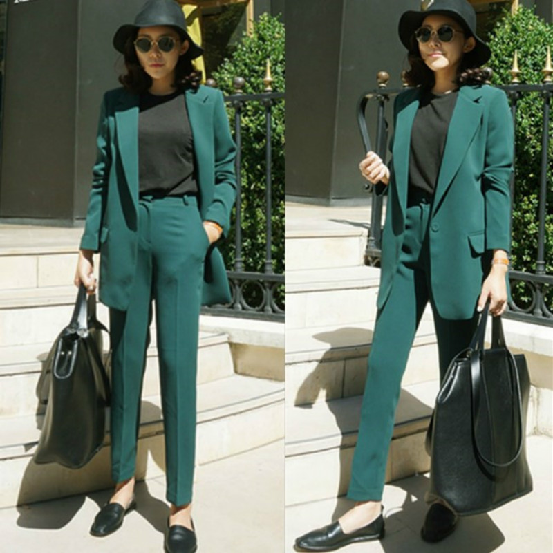 Womens suit 2018 spring and summer suit women fashion Office ladies suits OL leisure Slim suit ...