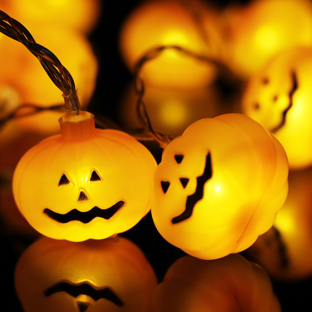 1.2m Pumpkin Face Style String Light Decoration Battery Operated For Halloween Garden Home Patio Lawn Holiday Party To Invigorate Health Effectively