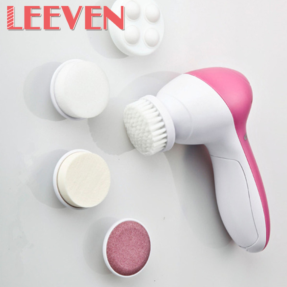 High Quality Wholesale Price 1Pcs/Lot Electric Face Facial Cleansing Brush Skin Care Massage Makeup Tool Fashion Beauty Brush 1set new 4 in1 makeup beauty diy facial face mask bowl brush spoon stick tool set