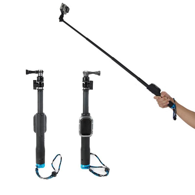High quality waterproof Portable Monopod Telescoping Handheld  Selfie Stick For Gopro Hero 3 4 5 action camera Sjcam xiaoyi
