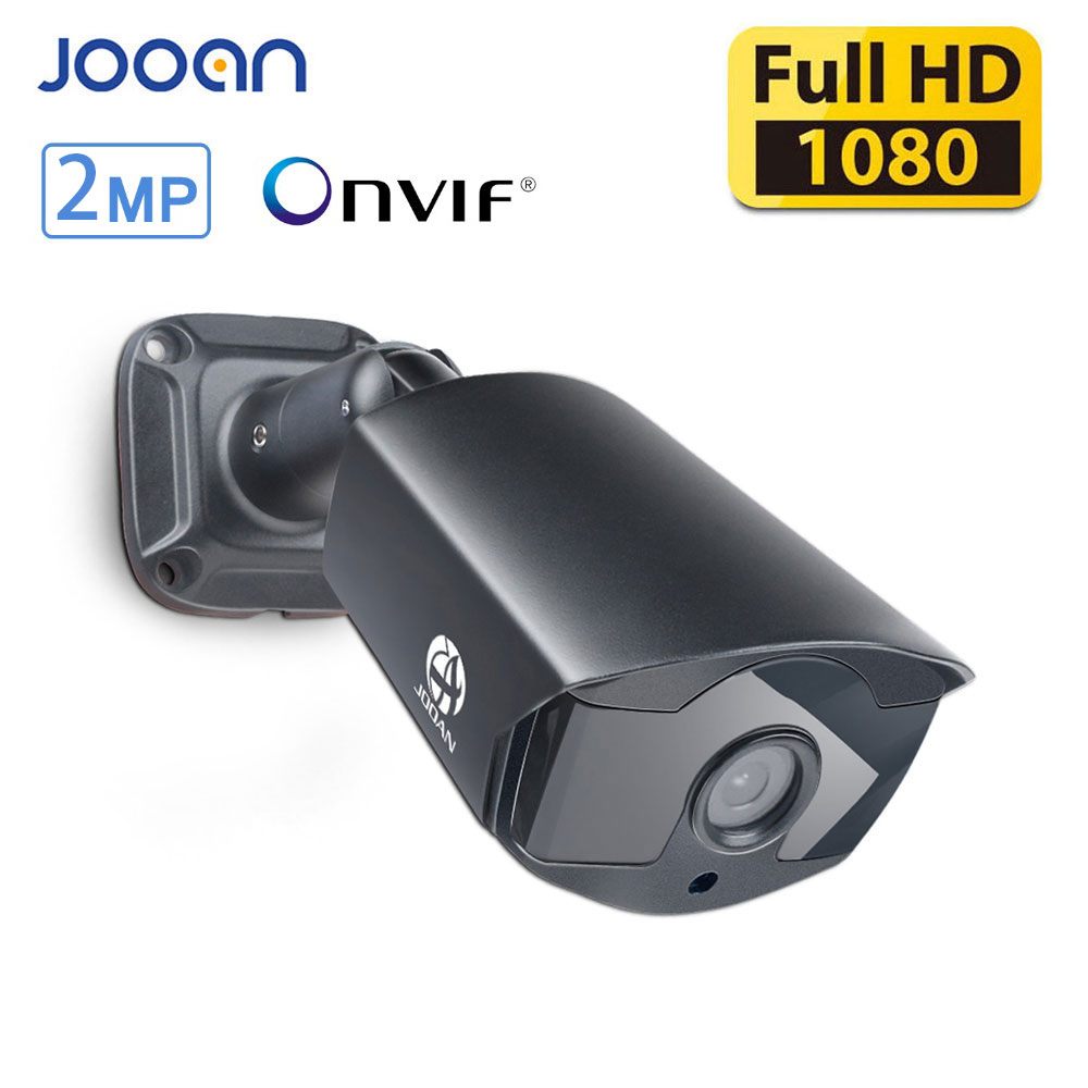 "JOOAN IP מצלמה חיצונית עמיד למים טלוויזיה במעגל סגור 1080 P 20fps HD התראת דוא""ל ONVIF P2P זיהוי תנועה RTSP 48 V POE מעקב וידאו"