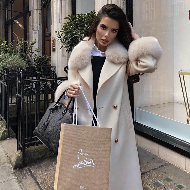Manches Solide 2019 Laine Plein Mélanges Longues Manteau Lady Coat Apricot Bouton Turn Décontracté De Bqueen down Femmes Collar Mode Couvert Nouvelles qtFwdnB8