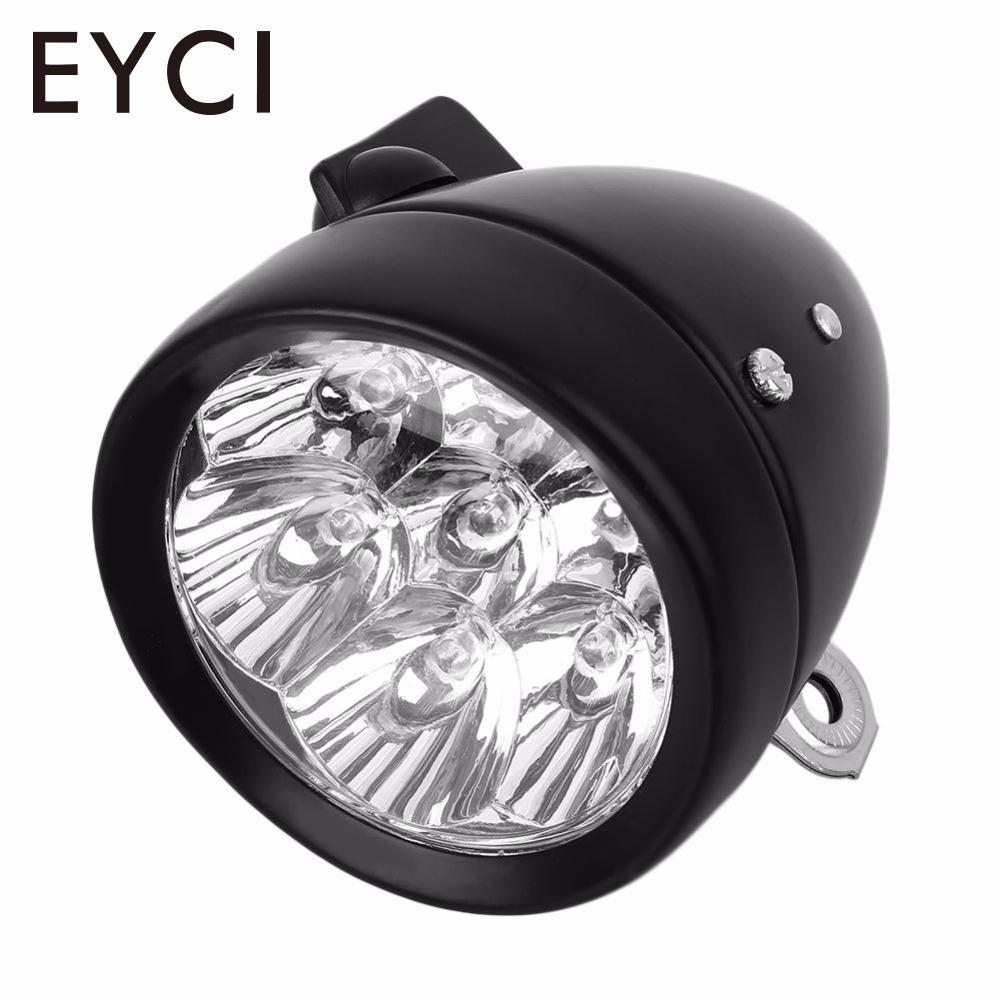 EYCI Waterproof 7 LED Vintage Retro Super Bright Bicycle Headlight Bike <font><b>Light</b></font> Cycling Head Front Rear Lamp Front <font><b>Light</b></font> Lamp