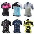 Женская футболка с коротким рукавом Morvelo, велосипедная рубашка для езды на велосипеде, топы для езды на велосипеде, одежда для спорта на откр...