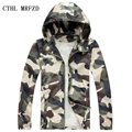 2016 Fashion High Quality Men Jacket Coats, Male Causal Hooded Camouflage Jacket, Thin Windbreaker Zipper Outwear